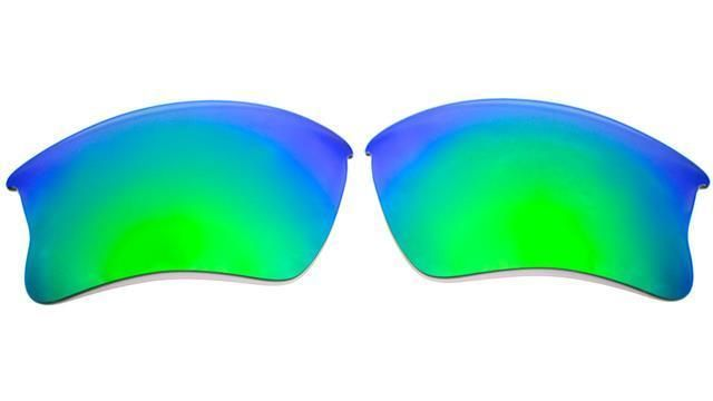 7f3db497b3 NEW POLARIZED GREEN CUSTOM XLJ LENS FOR OAKLEY FLAK JACKET